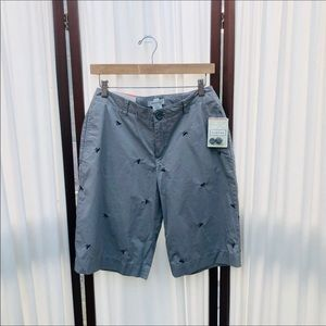 Embroidered Crab Bermuda Walking Shorts NEW